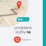 Predplatné služby BAT Loc na 12 mesiacov