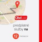 Predplatné služby OBD Loc EU 12