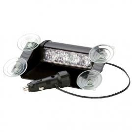 Interiérové výstražné LED svetlo, 4x LED, oranžové 3611A