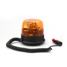 Výstražný rotačný maják, magnetický úchyt, R65, 12V, oranžový 310-A