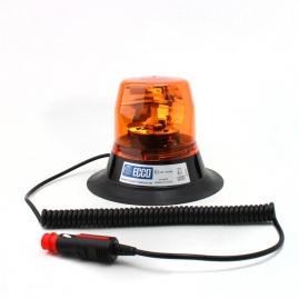 Výstražný rotačný maják, magnetický úchyt, R65, 12V, oranžový 400-12V-A