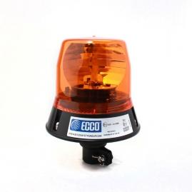 Výstražný rotačný maják, úchyt na tyč, R65, 12V, oranžový 402-12V-A