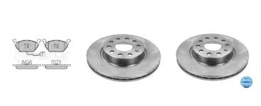 Predné brzdové kotúče a platničky GOLF VI 1,6TDI