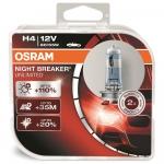 Osram Night Breaker Unlimited H4 P43t 12V 55W sada ...