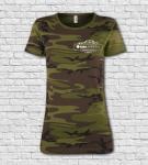 Tričko MILITARY Camouflage dámske