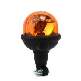 Rotačný výstražný maják, flexibilný úchyt na tyč, R65, oranžový, bez žiarovky 304.000