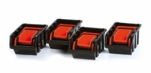 Samostatné boxy na spotrebný materiál oranžový/čierny