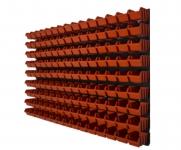 Nástenný organizér varianta č.18 oranžový