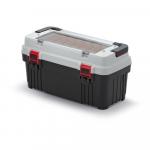 Kufrík na náradie Optima 586x296x305 mm sivý