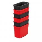 Sada 6 plastových boxov na naradie X BLOCK BOX 140x75x105 ...